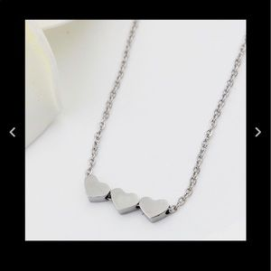 Jewelry - Sterling Silver Three Hearts Necklace